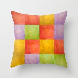 Colored Tiles Throw Pillow