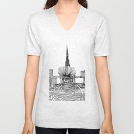 Dubai: Horro Vacui on an Urban Level Unisex V-Neck