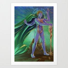 Capricorn - Zodiac King Art Print