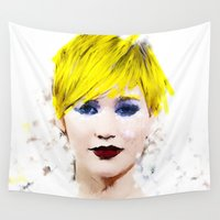 law Wall Tapestries featuring J Law by André Joseph Martin