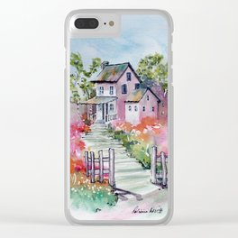 Summer Deaming at the Cottage Clear iPhone Case