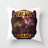 starlord Throw Pillows featuring (Star) Lord of the Dance by Fiendish Thingy Art