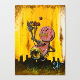A pink robot for Akira Canvas Print