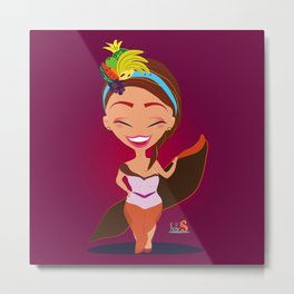Tuti la Frutty/Character & Art Toy design for fun Metal Print