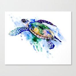 Swimming Sea Turtle Canvas Print