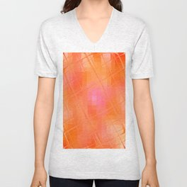 Re-Created Twisted SQ XXVII by Robert S. Lee Unisex V-Neck