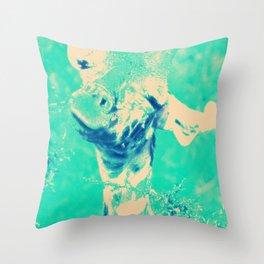 Monica Jane Turquoise Throw Pillow