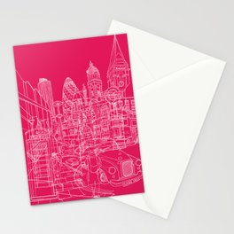 London! Hot Pink Stationery Cards