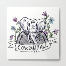 Conceal All Metal Print