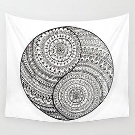 Yin Yang doodle Wall Tapestry