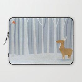 Origami deer in the Woods Laptop Sleeve