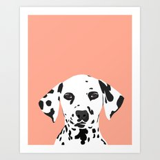 Casey - Dalmation art print phone case decor for pet lover and dog lover Art Print