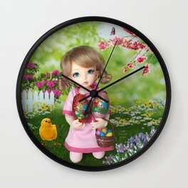 ** Easter Eggs hunting ** Wall Clock