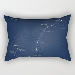Scorpius constellation star map Rectangular Pillow
