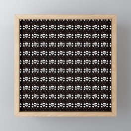 white skulls and crossbones pattern Framed Mini Art Print
