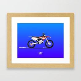 KTM 450 sx-f Endruo Bike Framed Art Print