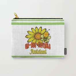 Unbelievable Assistant  Sunflowers and Bees Carry-All Pouch