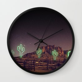 UFO forest Wall Clock