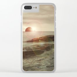 Sea and Sunset Clear iPhone Case