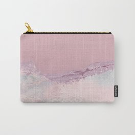 Abstract watercolor winter mountain sunset in pastels Carry-All Pouch