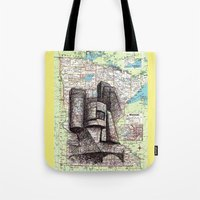 minnesota Tote Bags featuring Minnesota by Ursula Rodgers