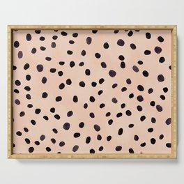 Dalmatian Print | Pink and Black Serving Tray