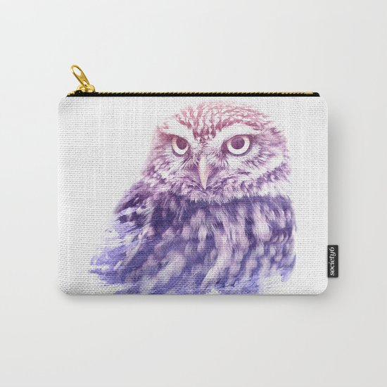 OWL SUPERIMPOSED WATERCOLOR Carry-All Pouch