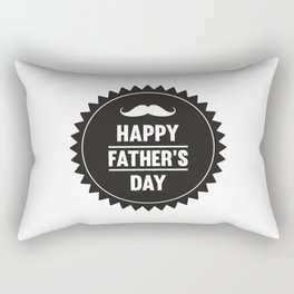 Happy Fathers Day Barth Papa Father Dad Rectangular Pillow