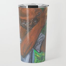 Drinking a Coconut Travel Mug