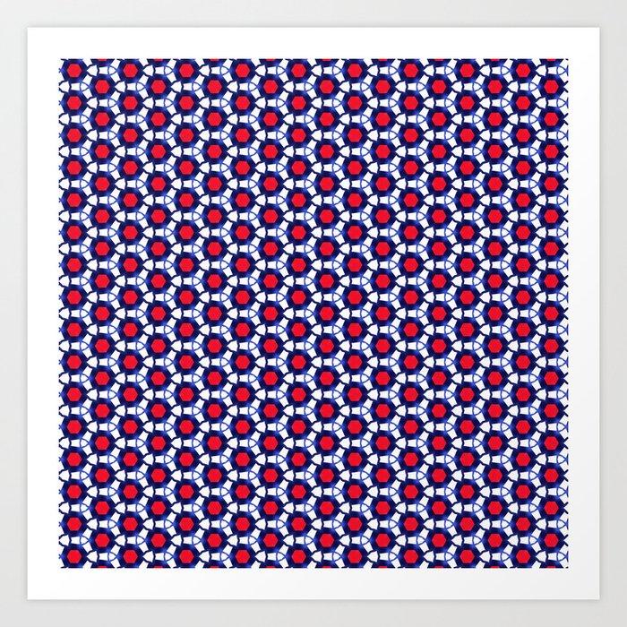 Red & Blue Pattern Art Print