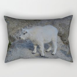 Baby mountain goat in the Rocky Mountains Rectangular Pillow