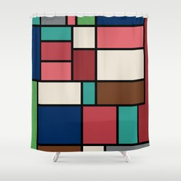 The Colors of / Mondrian Series - Spirited Away - Miyazaki Shower Curtain