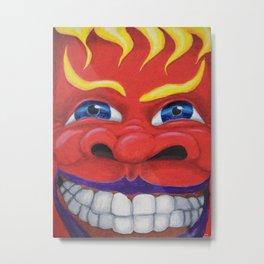 Red Face. Metal Print