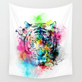 colorful tiger Wall Tapestry