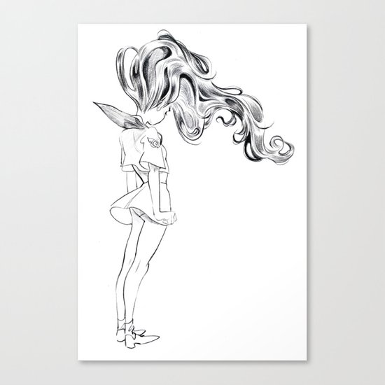 A girl in love Canvas Print