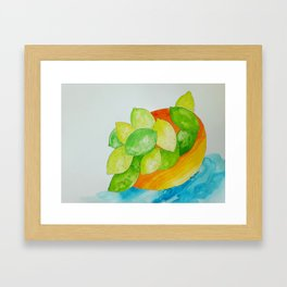 Lime Bowl Framed Art Print