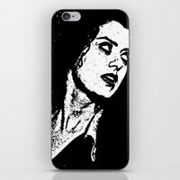 rocky horror iPhone & iPod Skins featuring Magenta (Rocky Horror Picture Show) by Blake Lee Ferguson