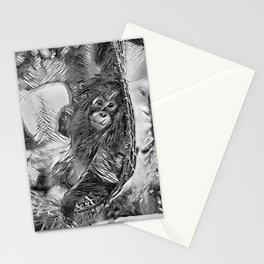 AnimalArtBW_OrangUtan_20170605_by_JAMColorsSpecial Stationery Cards