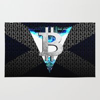 scotland Area & Throw Rugs featuring bitcoin scotland by seb mcnulty