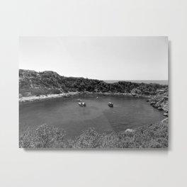 Rhodes Greece Anthony Quinn Bay black white Metal Print