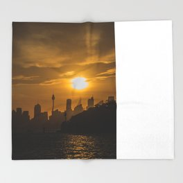 Sunset in Sydney (Australia) Throw Blanket