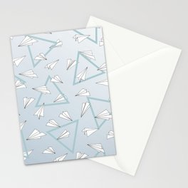 Paper Planes - Blue Stationery Cards