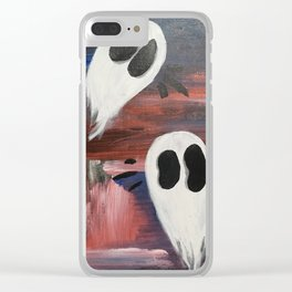 Anxious Ghosties Clear iPhone Case
