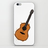 guitar iPhone & iPod Skins featuring Guitar by elyinspira