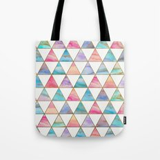 Marble Triangles Pattern Tote Bag