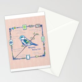 Lovely Sparrow - Mahjong Stationery Cards