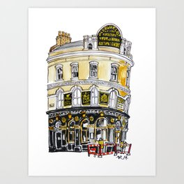 Old Blue Last Pub Art Print