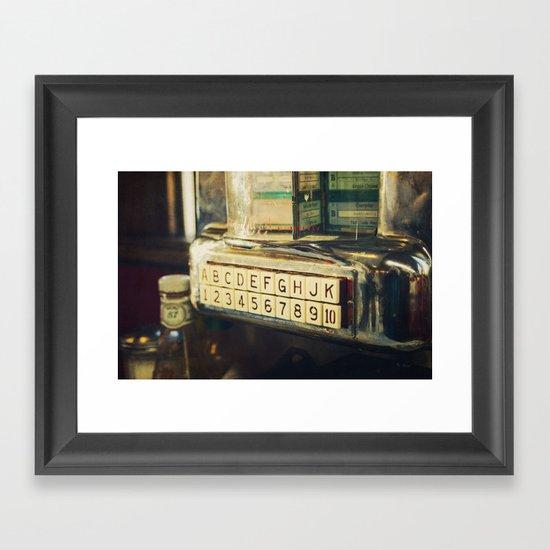 Please Make Your Selection Framed Art Print