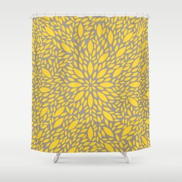 Yellow Flower explosion Shower Curtain
