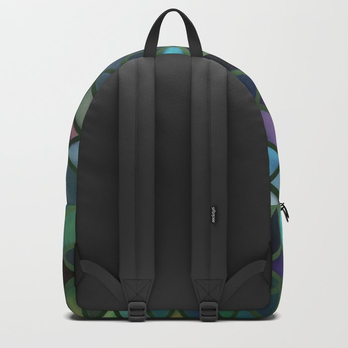 Pastel Boxes Green Backpack